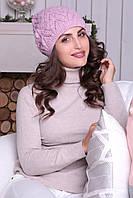 Женская шапочка-берет Дэйзи светло-розовая