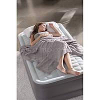 Intex 64472 (99-191-46 см.) Надувная односпальная кровать. Встроенный электронасос, фото 1