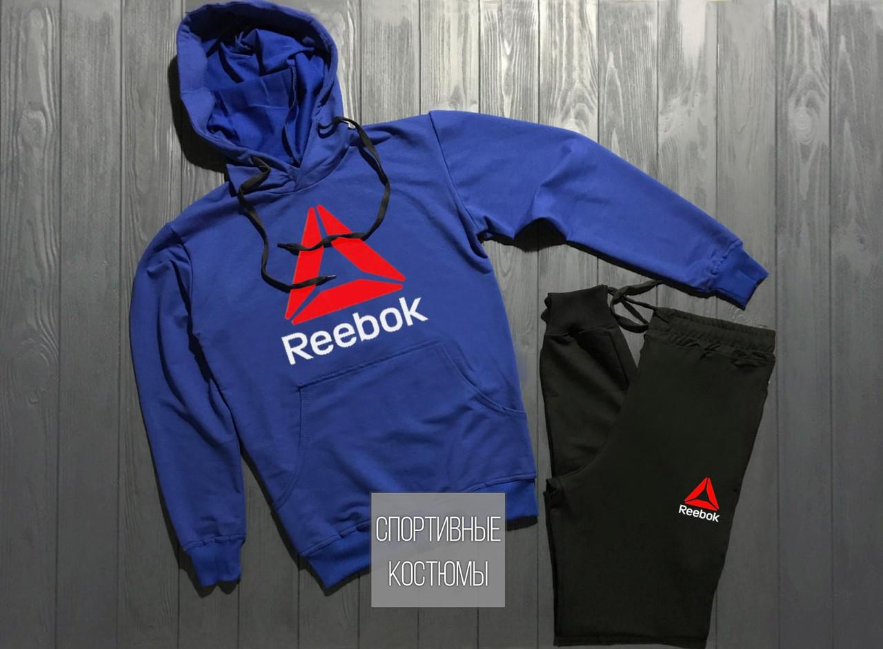 d3bda882daa5 Мужской спортивный костюм Reebok, Рибок, электрик верх, черный низ (в  стиле) - Bigl.ua