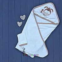 Полотенце-уголок с капюшоном Lamoda бежевое, фото 1