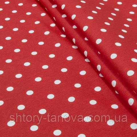 Декоративна тканина для штор, горошок, червоний