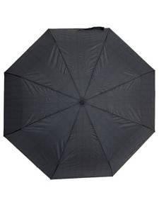 Мужской зонт автомат (диаметр 120 см) в клетку черный Susino 33034AC-1