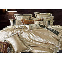 Элитный комплект постельного белья Жаккард-сатин Евро макси ТМ Viluta Tiare 1739