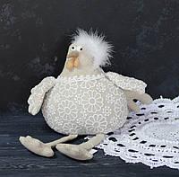 Курица сидячая тканевая с кружевом, фото 1