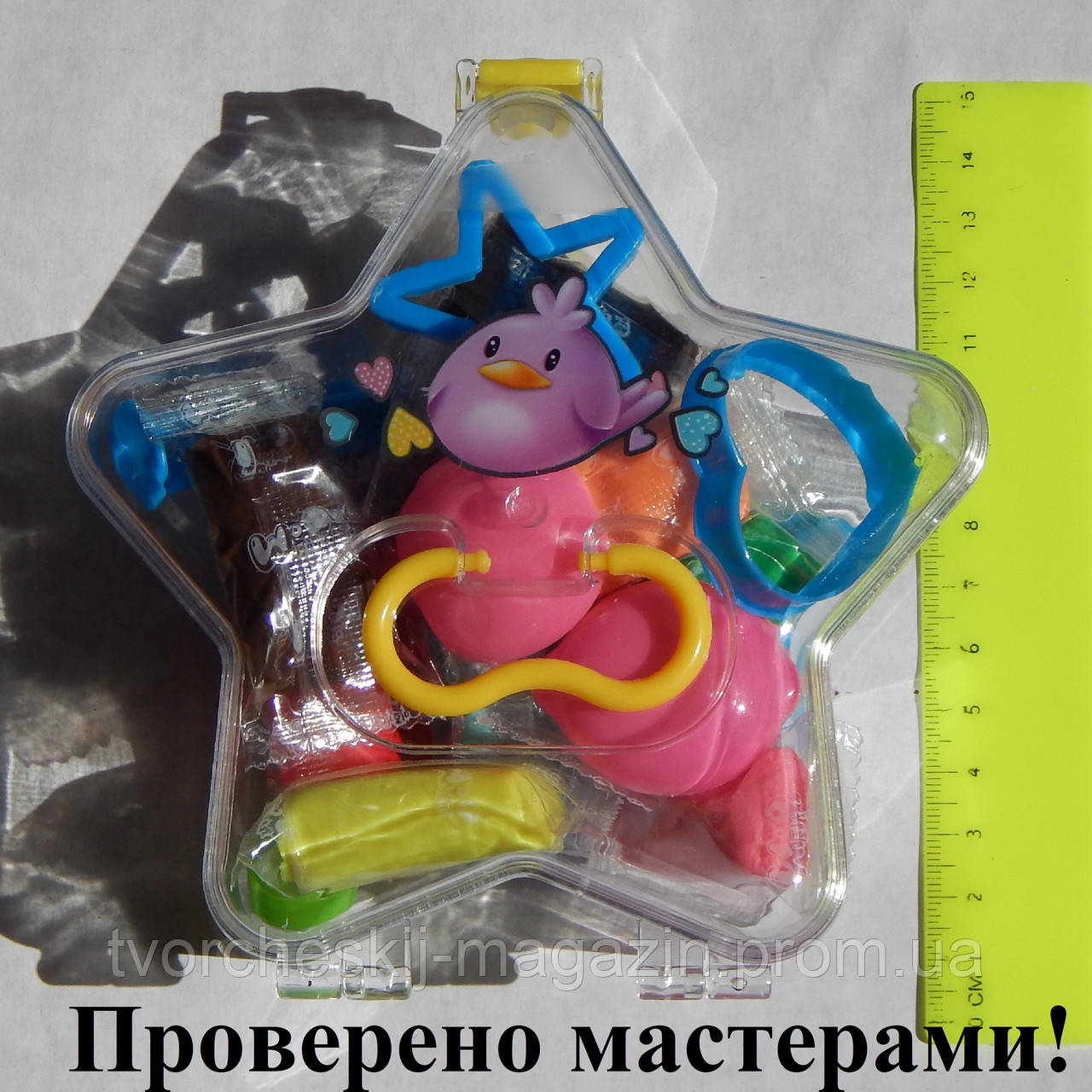 "Набор для лепки в коробке ""Звезда"", 12 цветов волшебного пластилина, формочки, шприц, стек ""Peppy Pinto"""