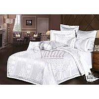 Элитный комплект постельного белья Жаккард-сатин Евро макси ТМ Viluta Tiare 1746