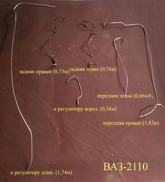 Тормозные трубки на ваз 2110