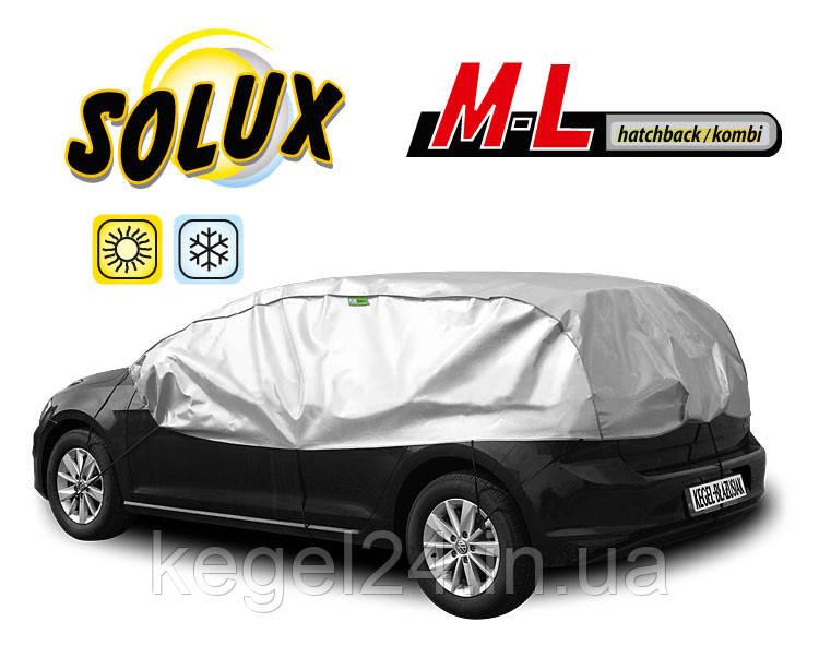 Чехол для автомобиля SOLUX, размер M-L Hatchback ОРИГИНАЛ! Официальная ГАРАНТИЯ!