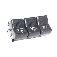 Клавиша включения 3-х кнопочная (свет, дворник, подсветка)