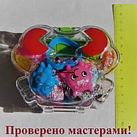 "Набор для лепки в коробке ""Краб"", 12 цветов волшебного пластилина, формочки, шприц, скалка, стек ""Peppy Pinto"", фото 1"