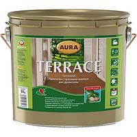 AURA Terrace пропитка с тунговым маслом для дерева Коричневая 9 л