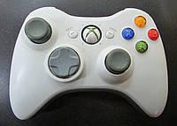 Джойстик беспроводной  XBOX 360 оригинал,Wireless Controller XBox360 White original БУ