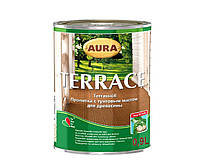 AURA Terrace пропитка с тунговым маслом для дерева Серая 2,7 л