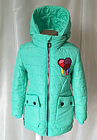Куртка демисезонная на девочку удлиненная 32-40 64e4d6460bae2