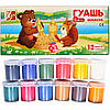 Гуашь Луч Мини Zoo блок-тара, 12 цветов