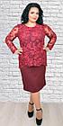 Женское платье с кружевом больших размеров, 54,56,58,60