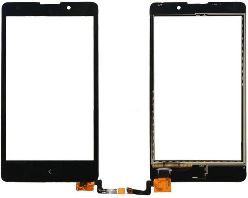 Тачскрин для Nokia XL Dual Sim (RM-1030/1042/1061), черный Оригинал