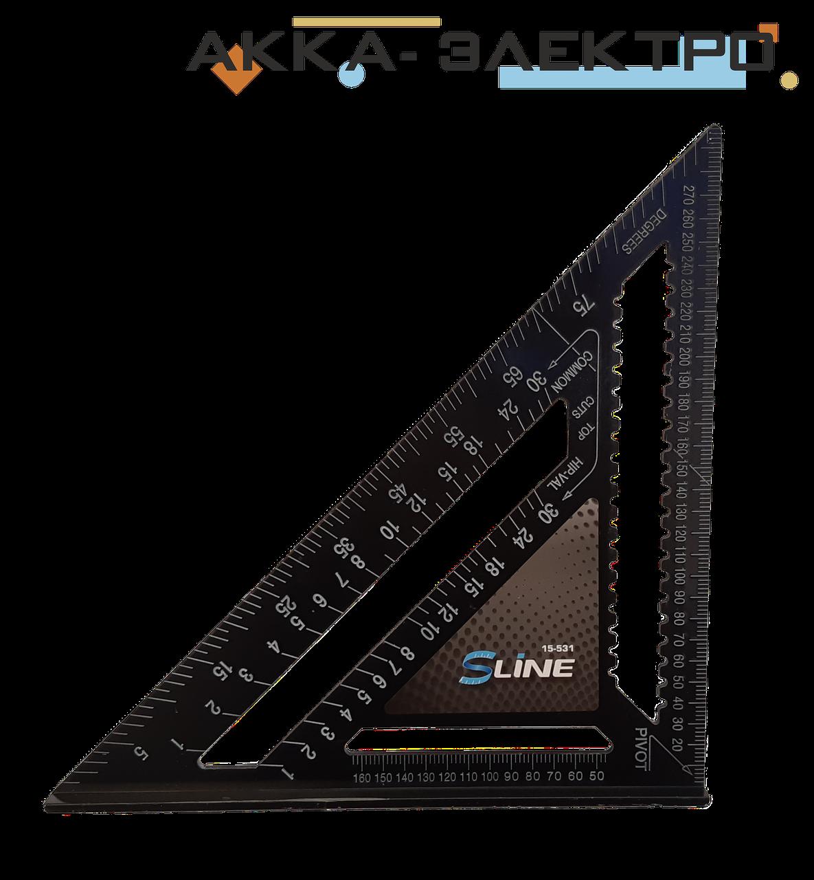 Косинець універсальний алюмінієвий 304х304х428мм S-LINE (15-531)