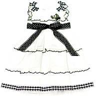 Платье для девочки 840 Бело-Чёрное