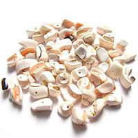 Бусины - ракушки (размер 1-1,5 см )в упаковке 60-65 г