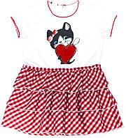 Платье для девочки Kotek I Serduszko Белое