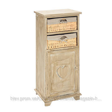 Комод для кухни под старину Home4You HARDY c 2 корзиной, 36x29xH78cm, антично коричневый