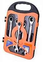 Набор ключей комбинированных с трещеткой  Miol  52-250