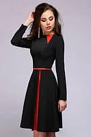 Клешное платье с длинным рукавом PR39, фото 1