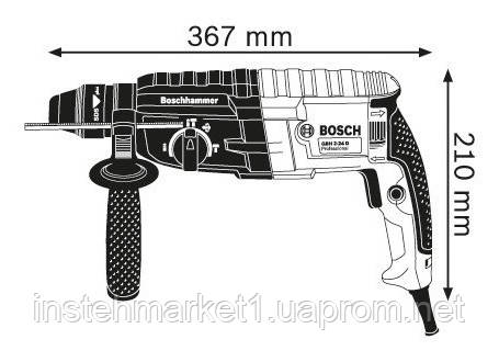 Перфоратор SDS-Plus Bosch GBH 2-24 DRE (790 Вт; 2,7 Дж) в интернет-магазине