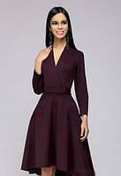 Стильное ассиметричное платье с декольте PR42, фото 1