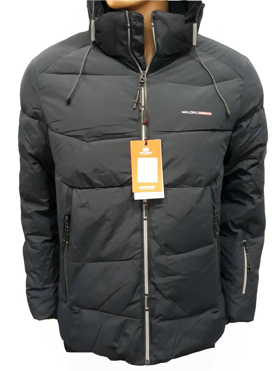 Куртка мужская зимняя Malidinu на синтепоне фирмы Малидину темно-синяя