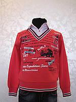 Детская рубашка-обманка для мальчиков 86,92,98,104 роста Красная
