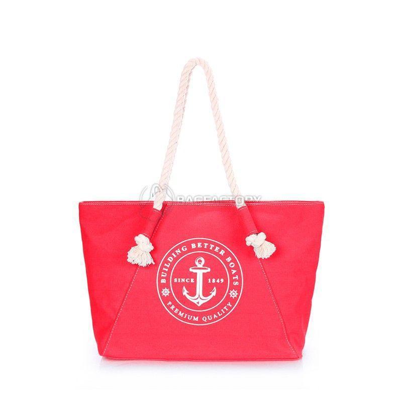 f024c61a4240 Женская коттоновая сумка POOLPARTY Breeze (pool-breeze-red) - Интернет- магазин