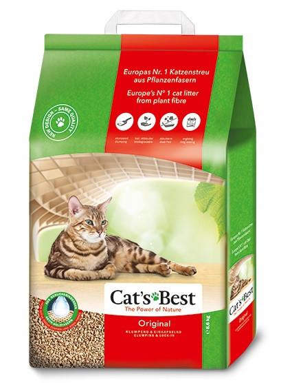 Cat's Best Original 10л+2л ( 5,2 кг ) - наполнитель древесный