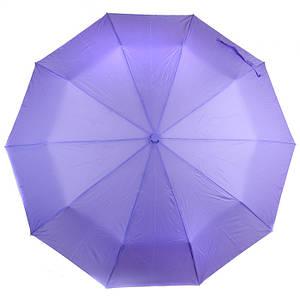 Женский зонт полуавтомат однотонный сиреневый