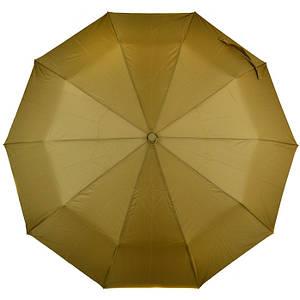 Женский зонт полуавтомат однотонный золотистый хаки