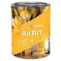 Eskaro Akrit 4 Белая 0,95л Краска для потолков и стен в помещениях с нормальными эксплутационными требованиями
