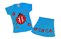 Детская одежда оптом из Турции babexi Комплект для девочки Божья Коровка  р.1,2,3,4 года(полномер).