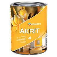 Eskaro Akrit 4 Белая 2,85л Краска для потолков и стен в помещениях с нормальными эксплутационными требованиями