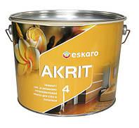 Eskaro Akrit 4 Белая 9,5 л Краска для потолков и стен в помещениях с нормальными эксплутационными требованиями