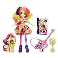 Кукла My Little Pony Equestria Girls Fluttershy Doll and Pony Set Флатершай, фото 1