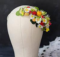 Обруч НА ВОЛОСЫ С ягодами малины, фото 1
