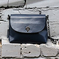 "Женская кожаная сумка ""Ненси  Dark Blue"", фото 1"
