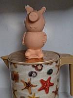 Сувенирное мылко ручная работа папа СВИН. Вес 190 г. Любимый мультгерой лучший подарок ребенку в сочельник