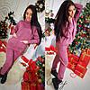 Женский вязанный свободный костюм в расцветках, р-р 44-54. МЛ-5-0818, фото 4