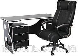 Мебель для работы дома комплект мебели Barsky Homework Game Black/White HG-06/BD-01/CUP-06