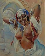 Картина Марокканка. Копия картины Адама Стука.
