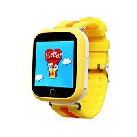 Детские умные часы-телефон с GPS трекером Smart Watch Q100 Жёлтые