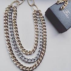 Колье и сережки Амели цепи, набор бижутерии