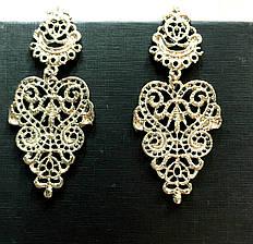 Серьги женские Джулия серебро, вечерние сережки